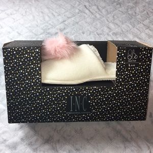 NWT Ivory slippers by INC